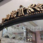 Matmazel Model Siyah Altın Renk Boy Aynası-15