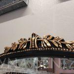 Matmazel Model Siyah Altın Renk Boy Aynası-16