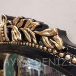 Matmazel Model Siyah Altın Renk Boy Aynası-17