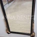 Matmazel Model Siyah Altın Renk Boy Aynası-19