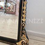 Matmazel Model Siyah Altın Renk Boy Aynası-22