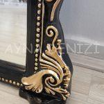 Matmazel Model Siyah Altın Renk Boy Aynası-24