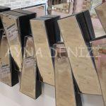 Güneş Piyano Black Bronze Model Siyah Bronz Renk Modern Ayna-19