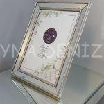Jesy Fifth Silver Model Gümüş Renk Dekoratif Aynalı Resim Çerçevesi-1