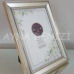 Jesy Fifth Silver Model Gümüş Renk Dekoratif Aynalı Resim Çerçevesi-15