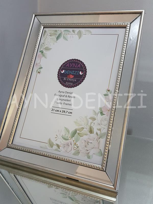 Jesy Fifth Silver Model Gümüş Renk Dekoratif Aynalı Resim Çerçevesi-16