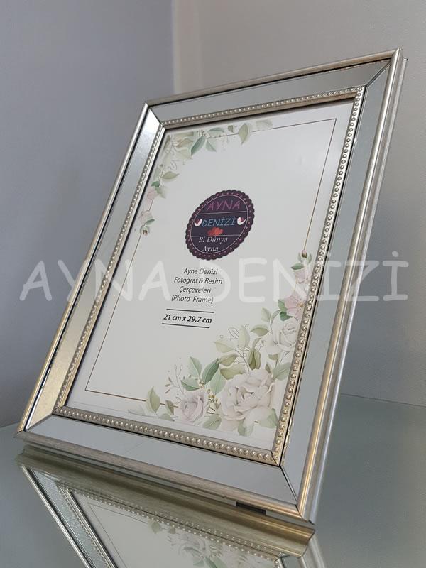 Jesy Fifth Silver Model Gümüş Renk Dekoratif Aynalı Resim Çerçevesi-2