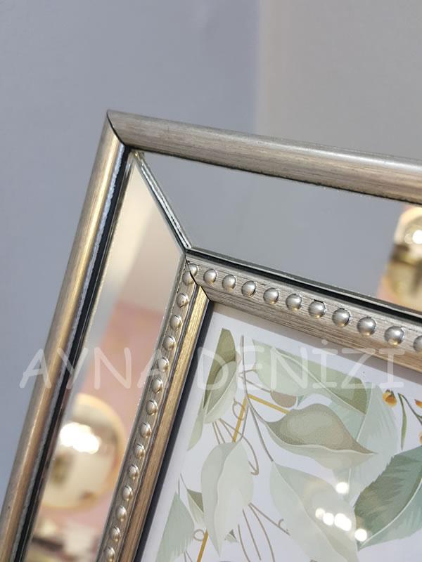 Jesy Fifth Silver Model Gümüş Renk Dekoratif Aynalı Resim Çerçevesi-21