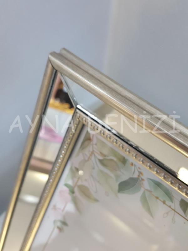 Jesy Fifth Silver Model Gümüş Renk Dekoratif Aynalı Resim Çerçevesi-22
