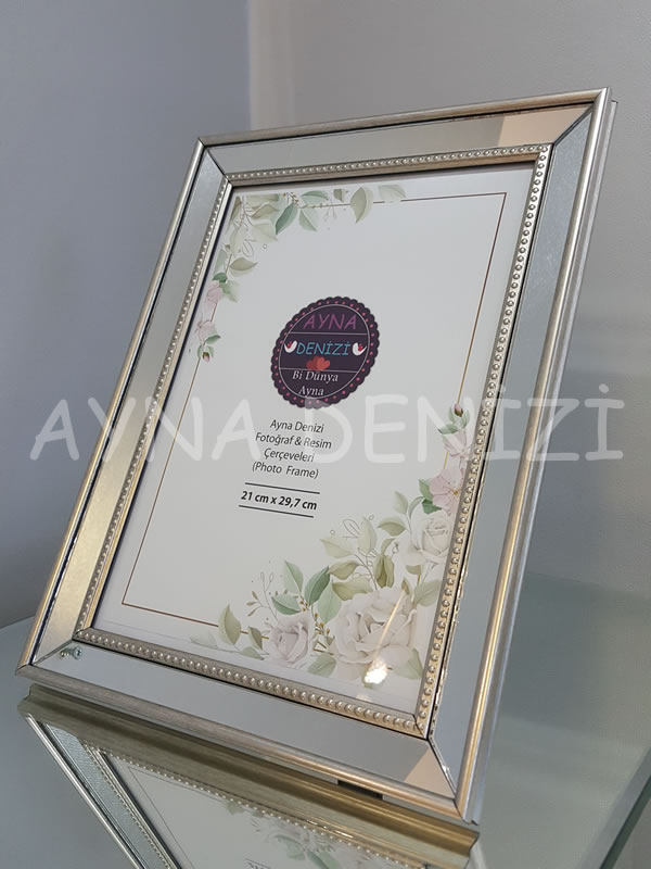 Jesy Fifth Silver Model Gümüş Renk Dekoratif Aynalı Resim Çerçevesi-5