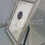 Jesy Fifth Silver Model Gümüş Renk Dekoratif Aynalı Resim Çerçevesi-6