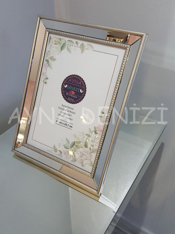 Jesy Fifth Silver Model Gümüş Renk Dekoratif Aynalı Resim Çerçevesi-7