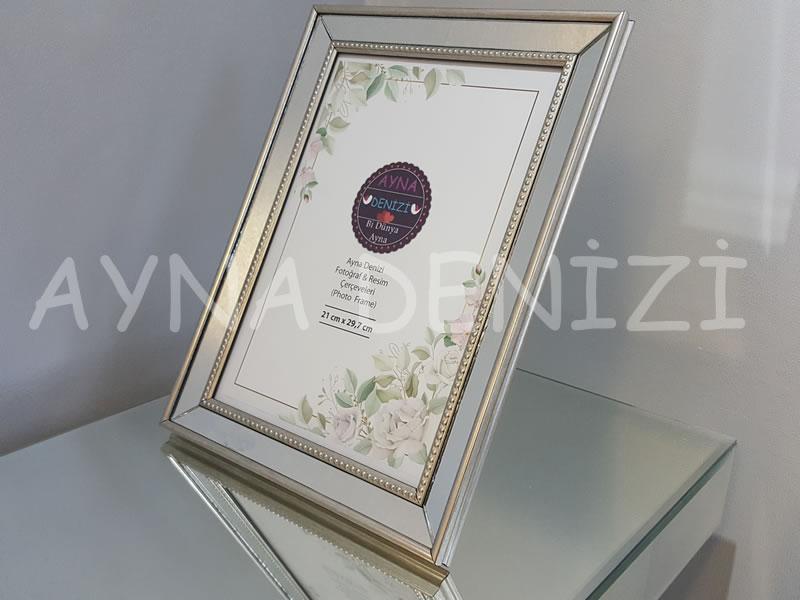 Jesy Fifth Silver Model Gümüş Renk Dekoratif Aynalı Resim Çerçevesi