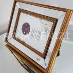 Jesy First Gold Model Altın Renk Dekoratif Aynalı Resim Çerçevesi-10