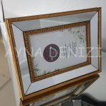 Jesy First Gold Model Altın Renk Dekoratif Aynalı Resim Çerçevesi-11