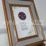 Jesy First Gold Model Altın Renk Dekoratif Aynalı Resim Çerçevesi-14