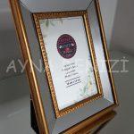 Jesy First Gold Model Altın Renk Dekoratif Aynalı Resim Çerçevesi-16