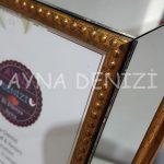 Jesy First Gold Model Altın Renk Dekoratif Aynalı Resim Çerçevesi-20