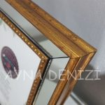 Jesy First Gold Model Altın Renk Dekoratif Aynalı Resim Çerçevesi-21