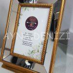 Jesy First Gold Model Altın Renk Dekoratif Aynalı Resim Çerçevesi-3
