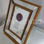 Jesy First Gold Model Altın Renk Dekoratif Aynalı Resim Çerçevesi-7
