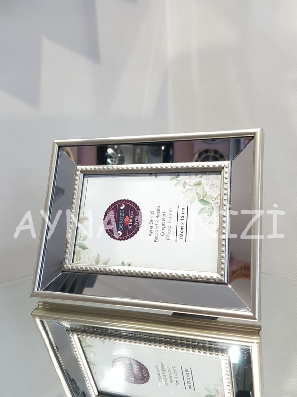 Jesy First Silver Model Gümüş Renk Dekoratif Aynalı Resim Çerçevesi-12