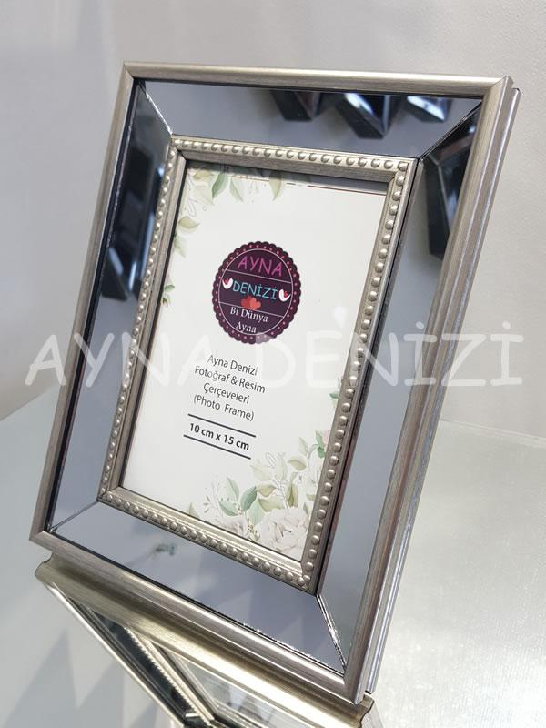 Jesy First Silver Model Gümüş Renk Dekoratif Aynalı Resim Çerçevesi-2
