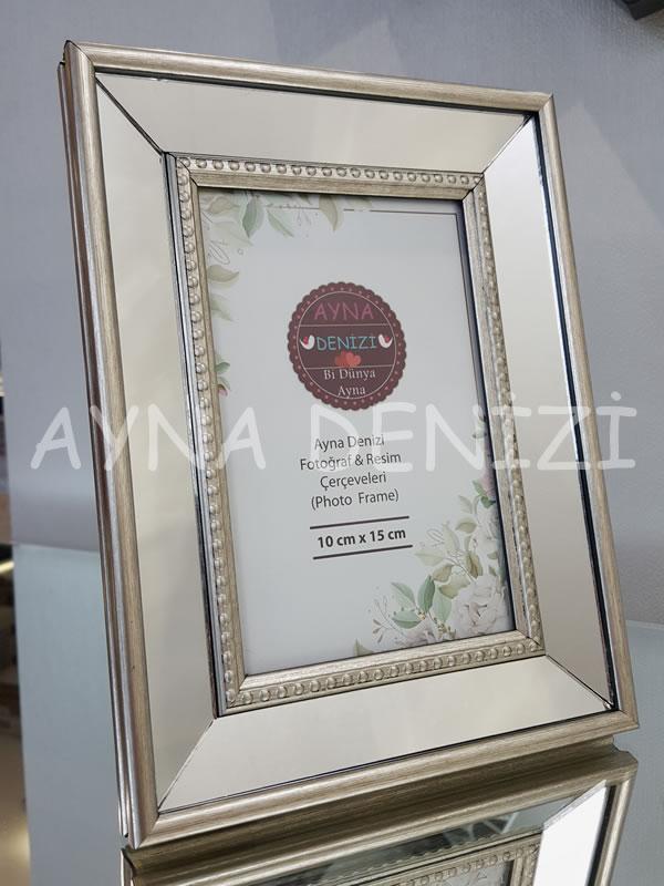 Jesy First Silver Model Gümüş Renk Dekoratif Aynalı Resim Çerçevesi-20