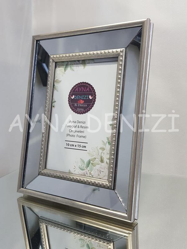 Jesy First Silver Model Gümüş Renk Dekoratif Aynalı Resim Çerçevesi-4