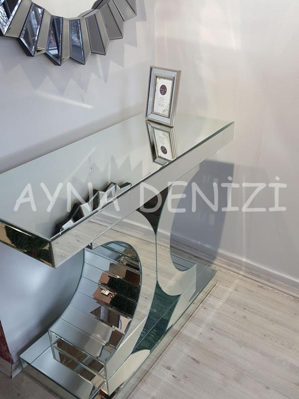 Jesy First Silver Model Gümüş Renk Dekoratif Aynalı Resim Çerçevesi-7