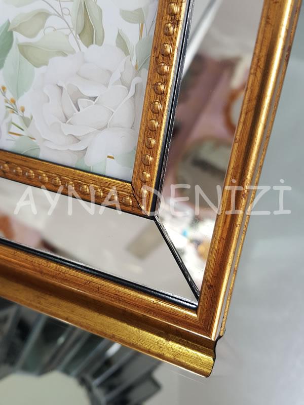 Jesy Fourth Gold Model Altın Renk Dekoratif Aynalı Resim Çerçevesi-24
