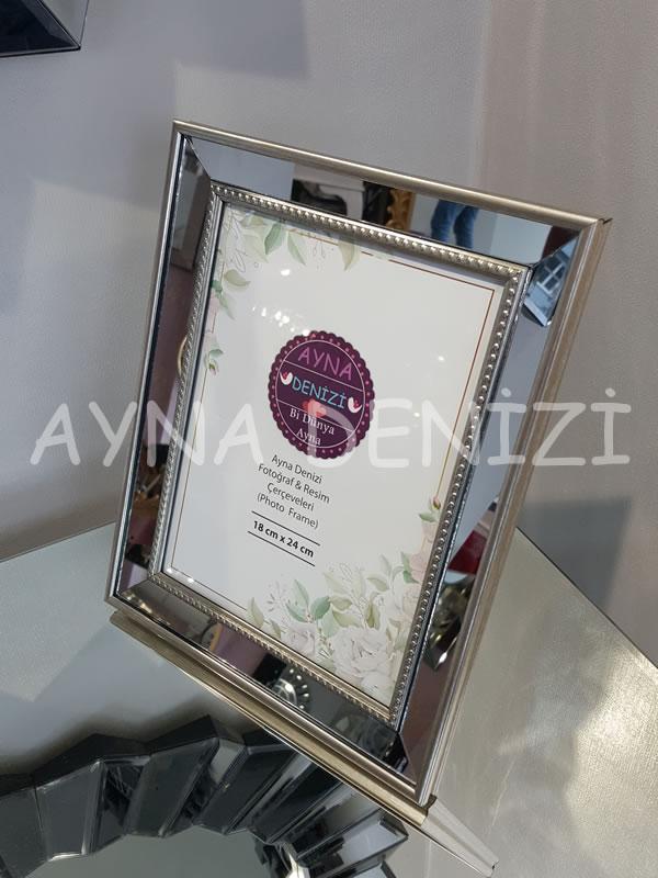 Jesy Fourth Silver Model Gümüş Renk Dekoratif Aynalı Resim Çerçevesi-10
