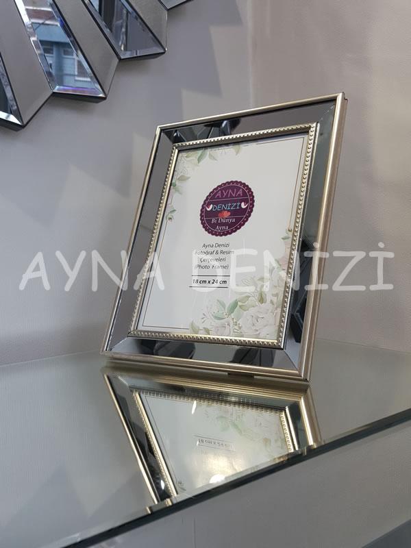 Jesy Fourth Silver Model Gümüş Renk Dekoratif Aynalı Resim Çerçevesi-15