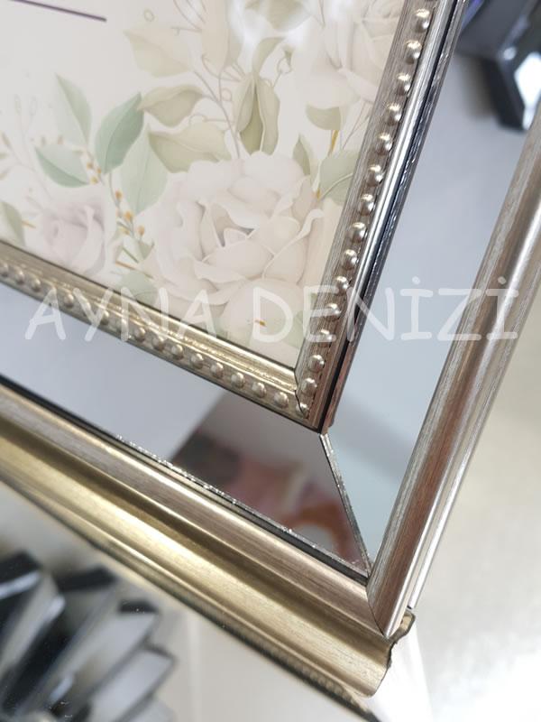 Jesy Fourth Silver Model Gümüş Renk Dekoratif Aynalı Resim Çerçevesi-23