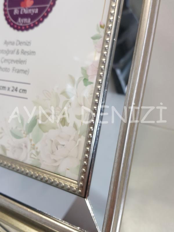 Jesy Fourth Silver Model Gümüş Renk Dekoratif Aynalı Resim Çerçevesi-24