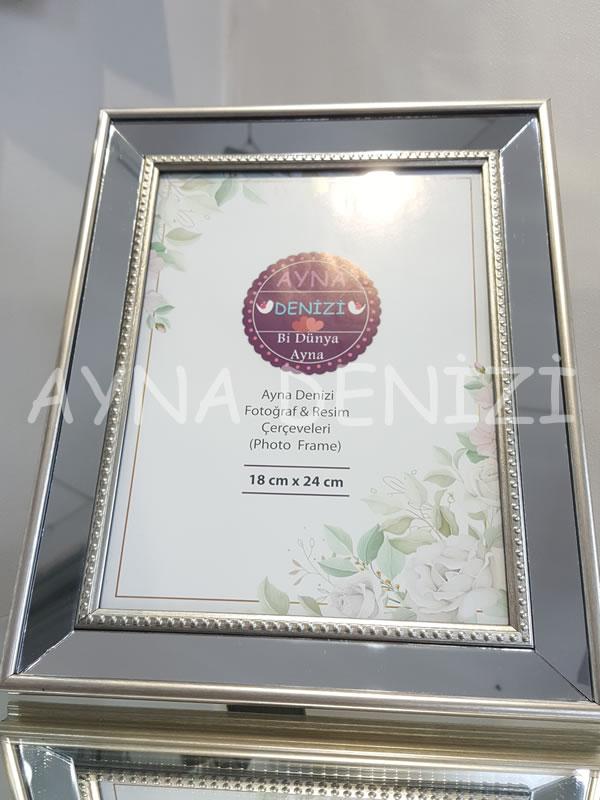 Jesy Fourth Silver Model Gümüş Renk Dekoratif Aynalı Resim Çerçevesi-3
