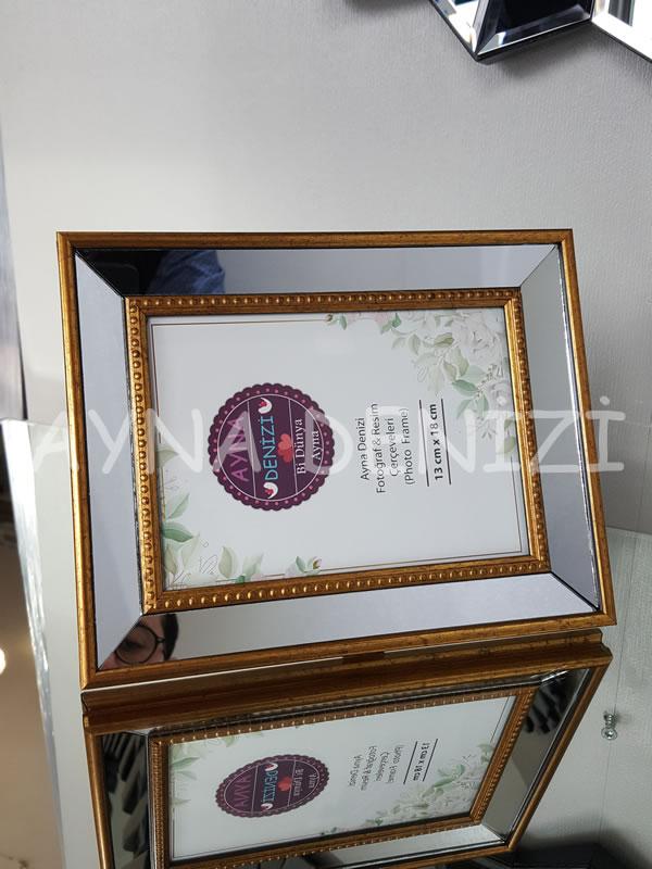 Jesy Second Gold Model Altın Renk Dekoratif Aynalı Resim Çerçevesi-13
