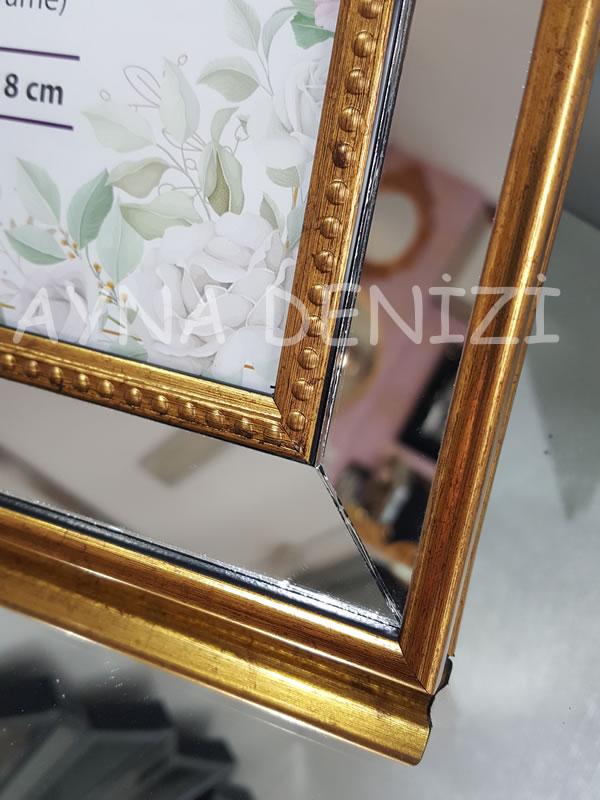Jesy Second Gold Model Altın Renk Dekoratif Aynalı Resim Çerçevesi-18