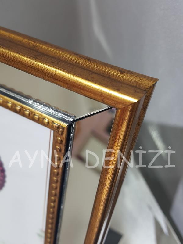 Jesy Second Gold Model Altın Renk Dekoratif Aynalı Resim Çerçevesi-20