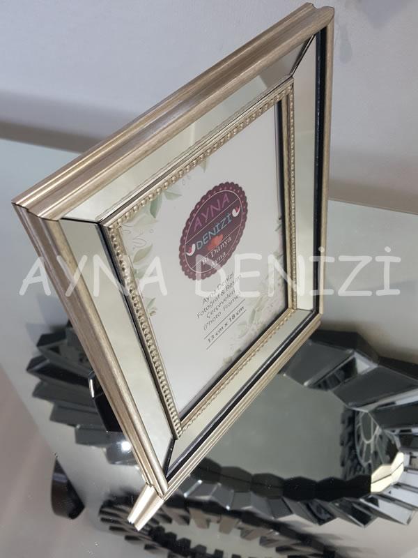 Jesy Second Silver Model Gümüş Renk Dekoratif Aynalı Resim Çerçevesi-13