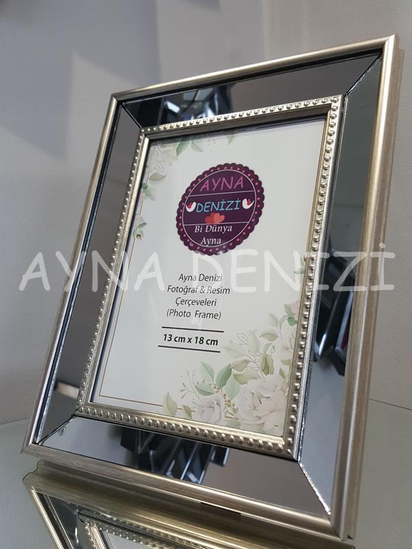 Jesy Second Silver Model Gümüş Renk Dekoratif Aynalı Resim Çerçevesi-15