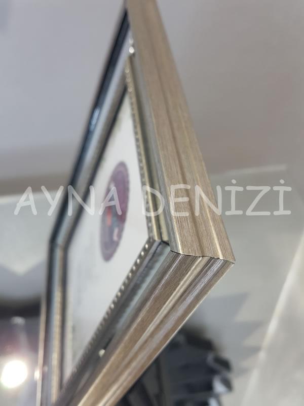 Jesy Second Silver Model Gümüş Renk Dekoratif Aynalı Resim Çerçevesi-16
