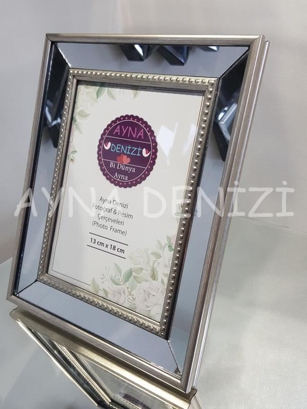 Jesy Second Silver Model Gümüş Renk Dekoratif Aynalı Resim Çerçevesi-18