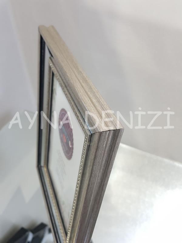 Jesy Second Silver Model Gümüş Renk Dekoratif Aynalı Resim Çerçevesi-19
