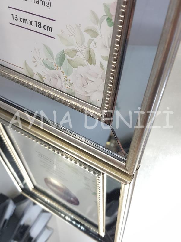 Jesy Second Silver Model Gümüş Renk Dekoratif Aynalı Resim Çerçevesi-20