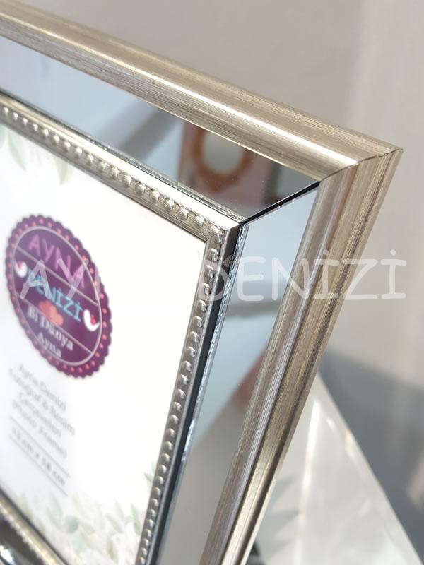 Jesy Second Silver Model Gümüş Renk Dekoratif Aynalı Resim Çerçevesi-23