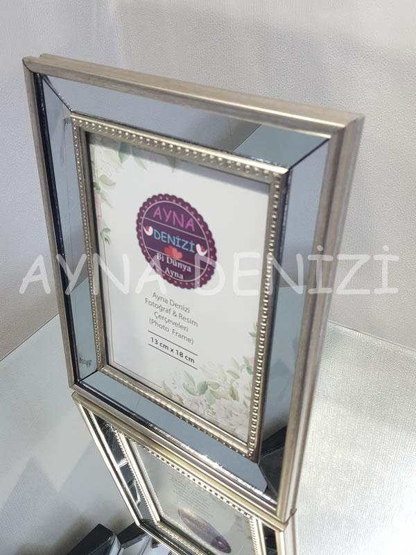 Jesy Second Silver Model Gümüş Renk Dekoratif Aynalı Resim Çerçevesi-3