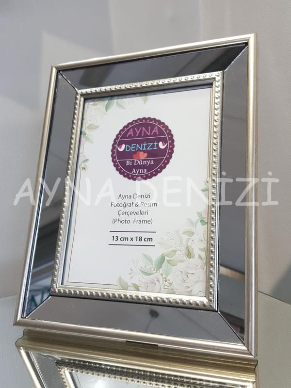Jesy Second Silver Model Gümüş Renk Dekoratif Aynalı Resim Çerçevesi-5