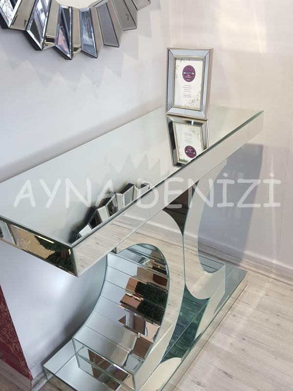 Jesy Second Silver Model Gümüş Renk Dekoratif Aynalı Resim Çerçevesi-6