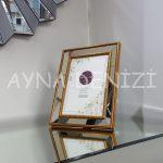 Jesy Third Gold Model Altın Renk Dekoratif Aynalı Resim Çerçevesi-11
